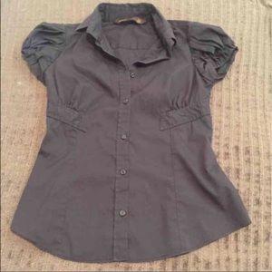 Zara Black Collared Shirt